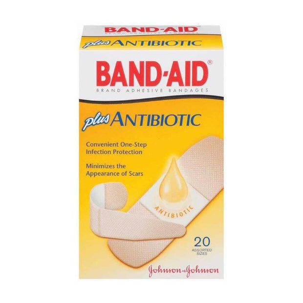 Band-Aid Antibiotic with Neosporin Adhesive Bandages Assorted 20 ct