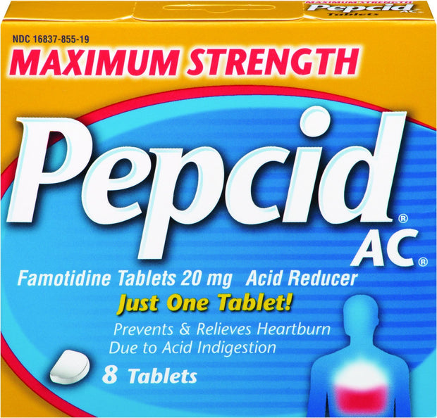 Pepcid AC Max Strength 20mg Tablets