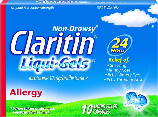 Claritin 24 Hour Allergy Relief 10mg Liqui-Gels 10 ct