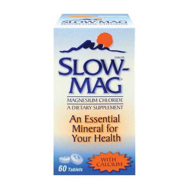 Slow-Mag Magnesium Chloride with Calcium Tablets 60 ct