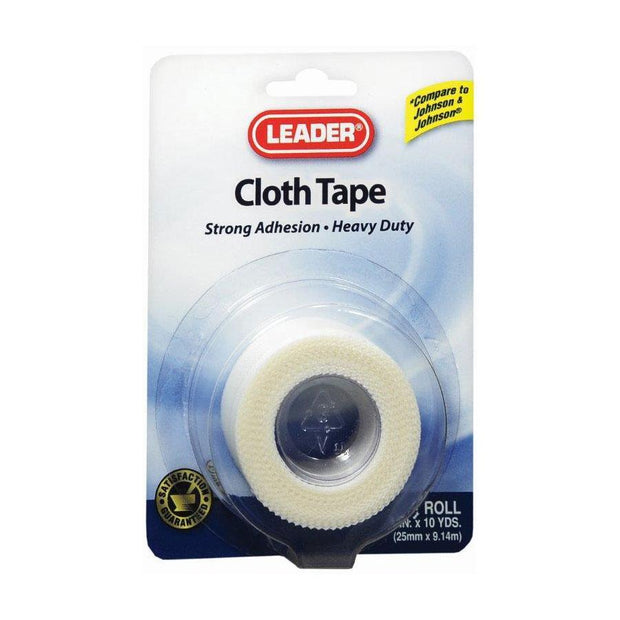 LEADER First Aid Cloth Tape 1 in. x 10 yd 1 roll