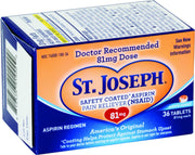 St. Joseph Aspirin 81mg Enteric Coated Tablets