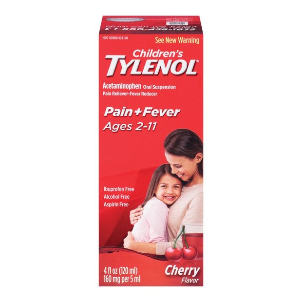 Children's Tylenol Pain Reliever/Fever Reducer Cherry Syrup 4 oz