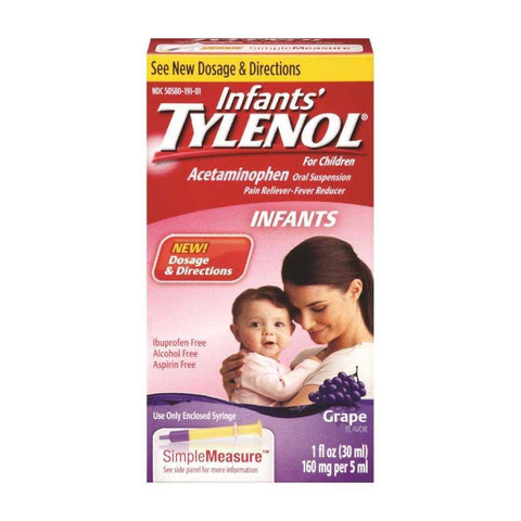 Tylenol Infants 160mg Grape Liquid 1 oz
