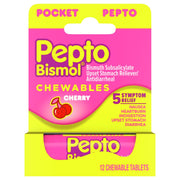 Pepto Bismol Upset Stomach Reliever/Antidiarrheal Cherry Chewable Tablets
