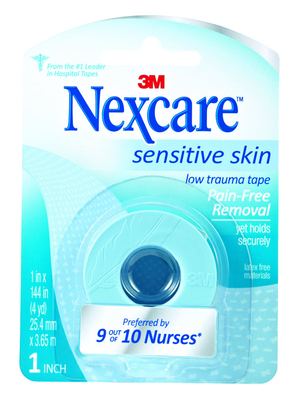 Nexcare Tape Sensitive Skin Low Trauma 1 in. x 4 yd 6 ct