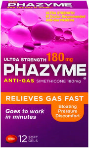 Phazyme Anti-Gas Ultra Strength 180mg Softgels