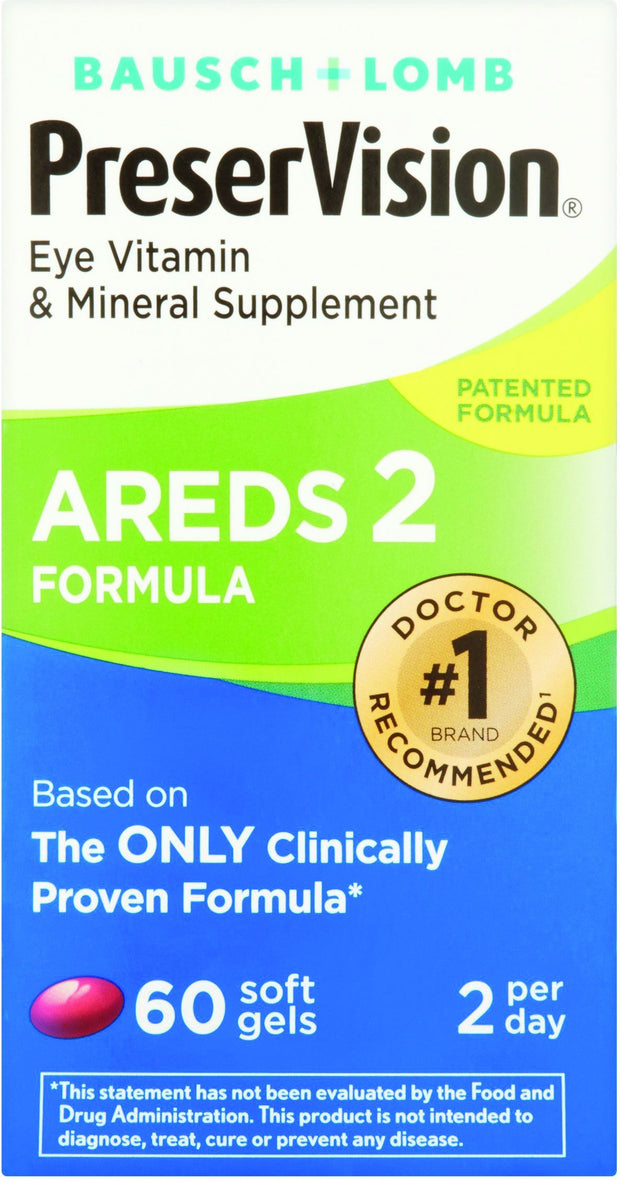 PreserVision Eye Vitamin & Mineral Supplement Areds 2 Softgels