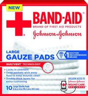 Band-Aid Gauze Pads Sterile Large 4 in. x 4 in.