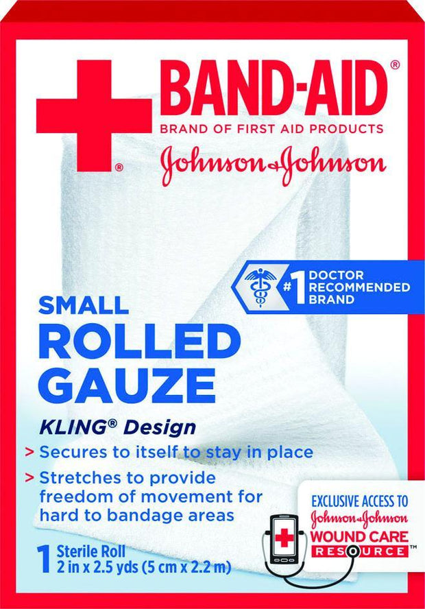 Johnson & Johnson Red Cross Rolled Gauze 2 in. x 2.5 yd