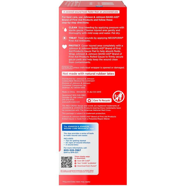 Johnson & Johnson Red Cross Rolled Gauze Large 4 in. x 2.1 yd 5 ct