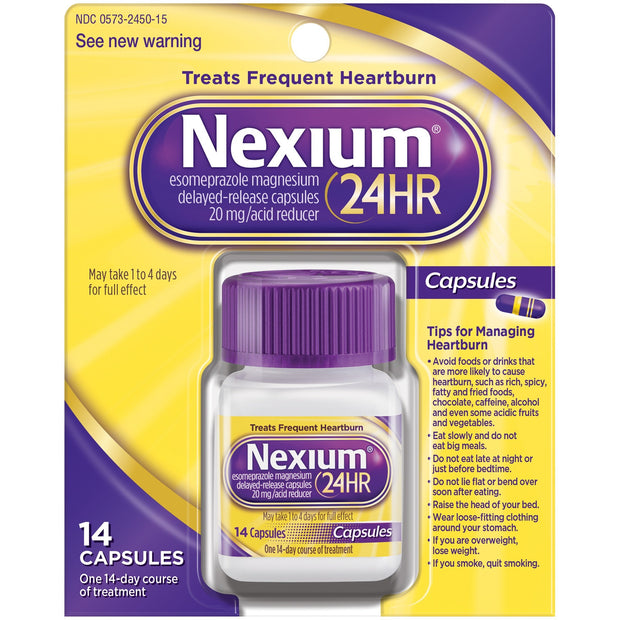 Nexium 24 Hour Acid Reducer 20mg Tablets