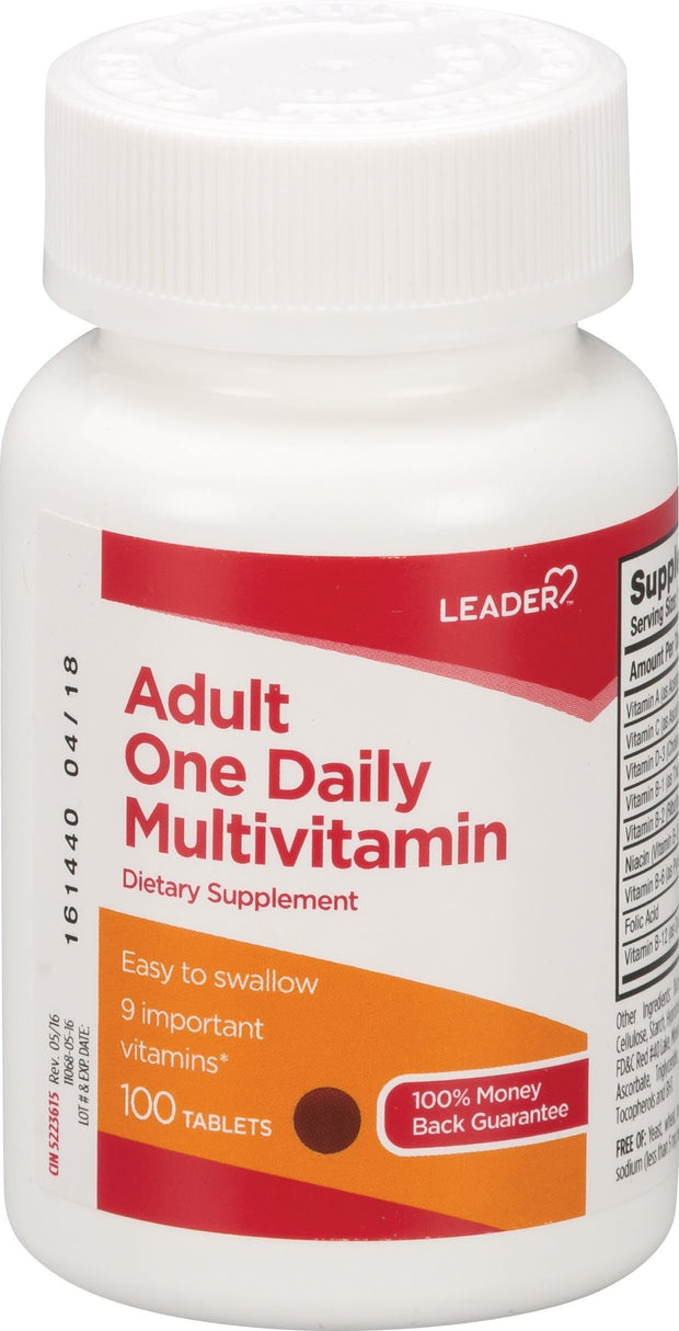 LEADER Adult One Daily Multivitamin Tablets 100 ct