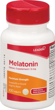 LEADER Melatonin 5mg Tablets 100 ct