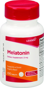 LEADER Melatonin 3mg Tablets 100 ct