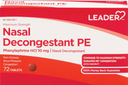 LEADER Nasal Decongestant PE Max Strength 10mg Tablets