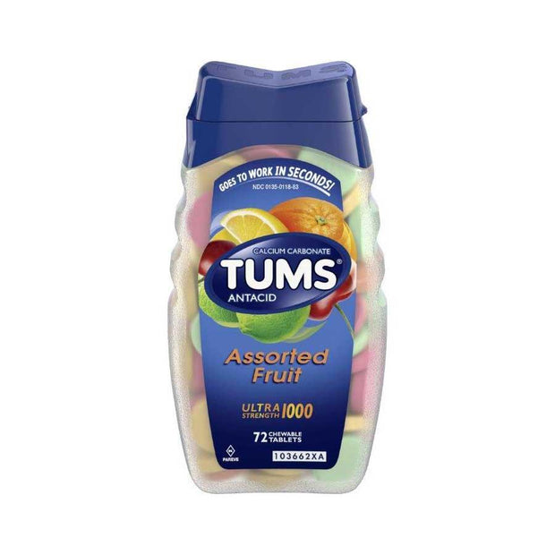 Tums Antacid Ultra Chewables Tropical Fruit 72 ct