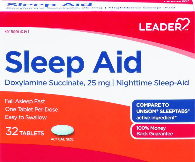 LEADER Sleep Aid 25mg Tablets32 ct