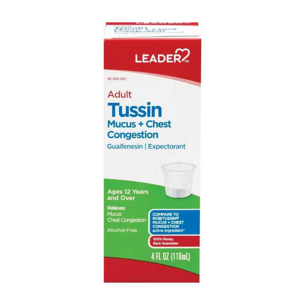 LEADER Tussin Mucus + Chest Congestion Liquid