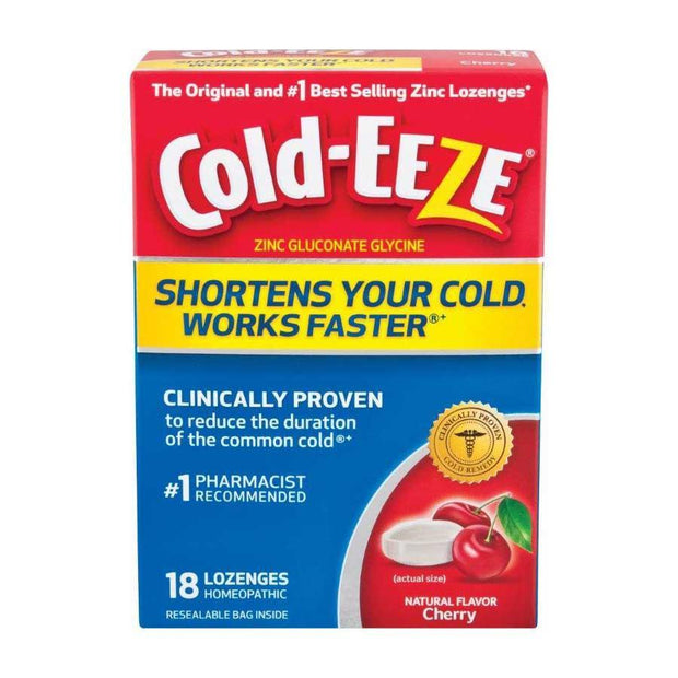 Cold-Eeze Cold Remedy Zinc Lozenge Natural Cherry Flavor 18 ct