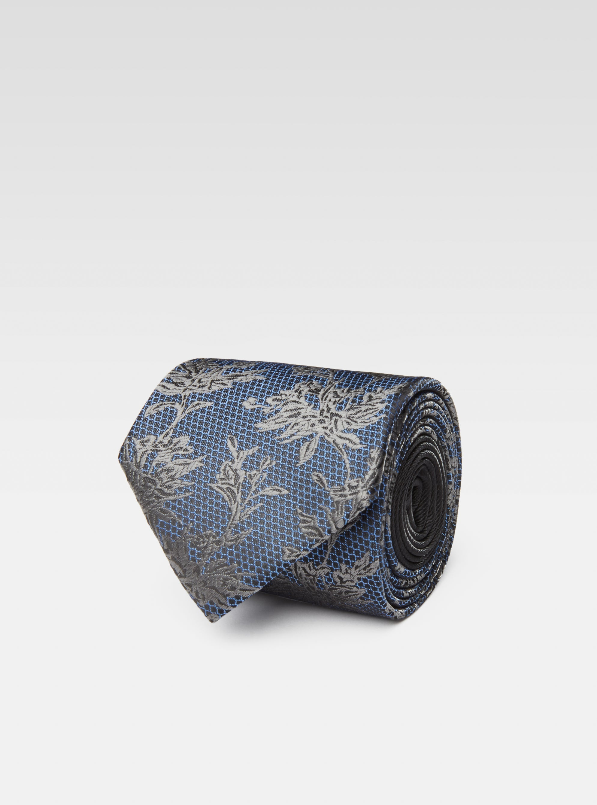 Branches over honeycomb woven neck tie