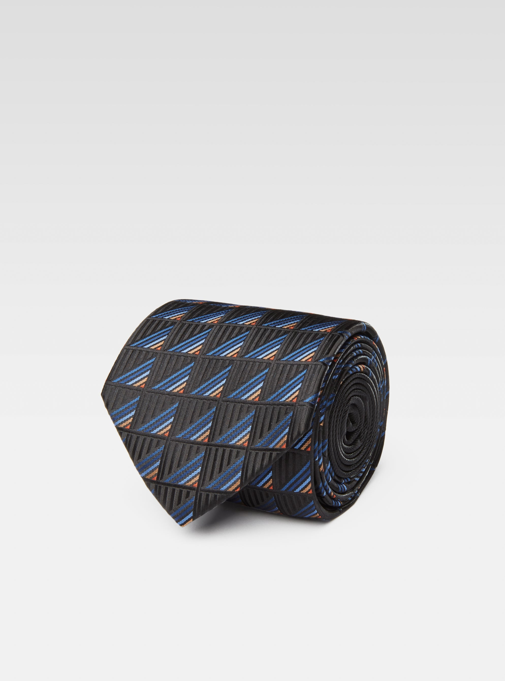 Triangle geometric woven neck tie
