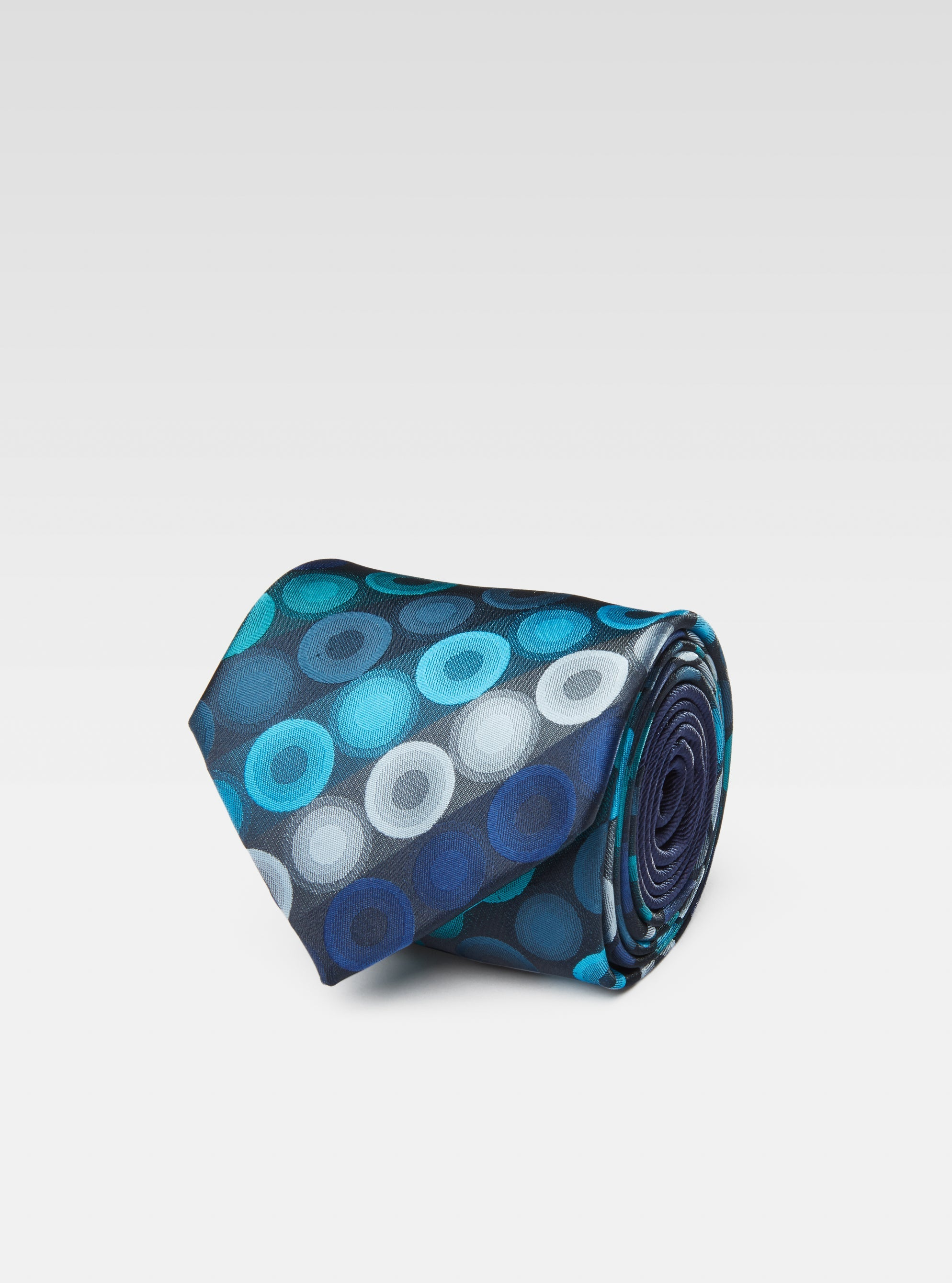 Water bubble pattern woven neck tie