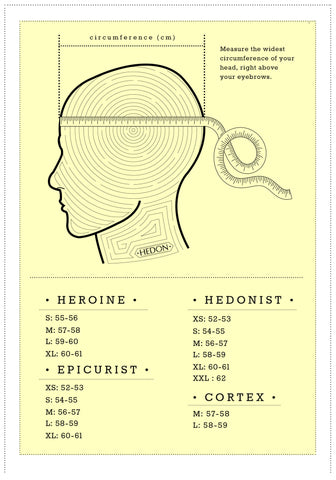 Hedon Hedonist Helmet Metallic Moss Sizing Chart - Revival Cycles