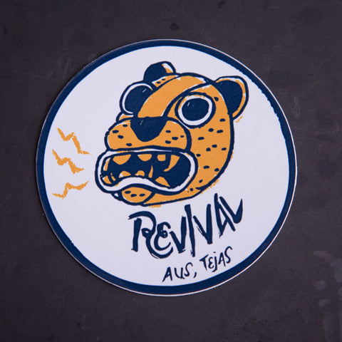 Revival Cycles Jaguar Sticker