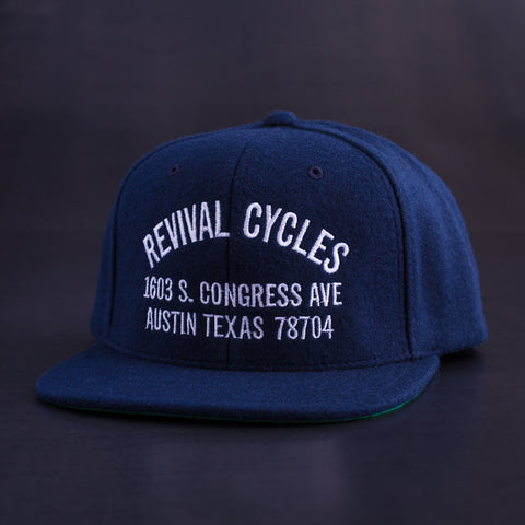 Revival Cycles Anchor Hat - Navy Blue - Revival Cycles