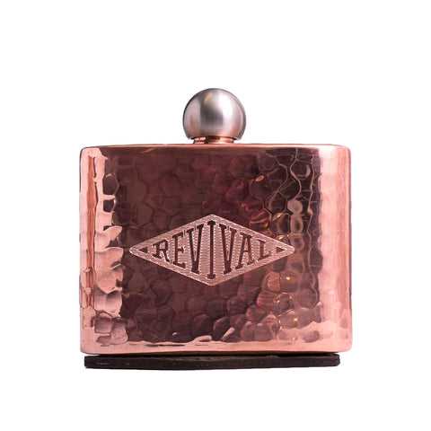 "Revival Cycles 4x3"" Mini Copper Flask"