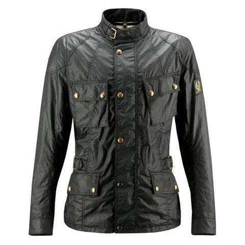 Revival Cycles - Belstaff Crosby Motorcycle Jacket - Hand Waxed Cotton - Black