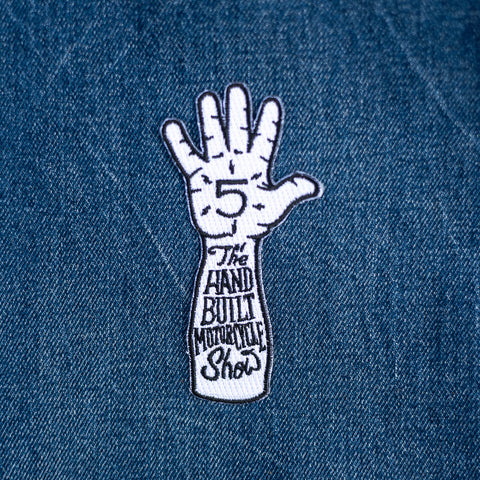 Handbuilt Show Hi-Five Patch - White