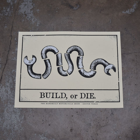 Handbuilt Show Build or Die Poster - Revival Cycles