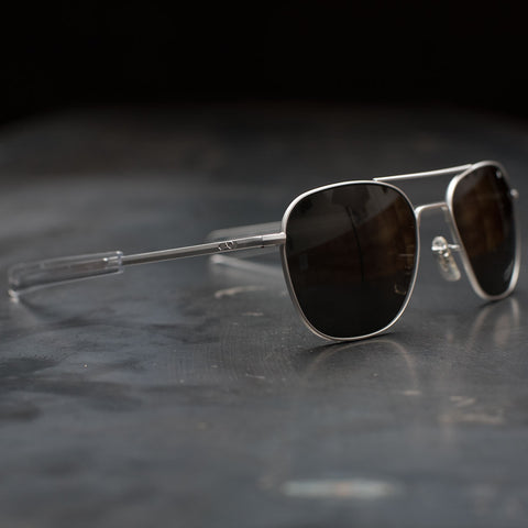 AO Original Pilot Sunglasses - Matte Chrome Frame