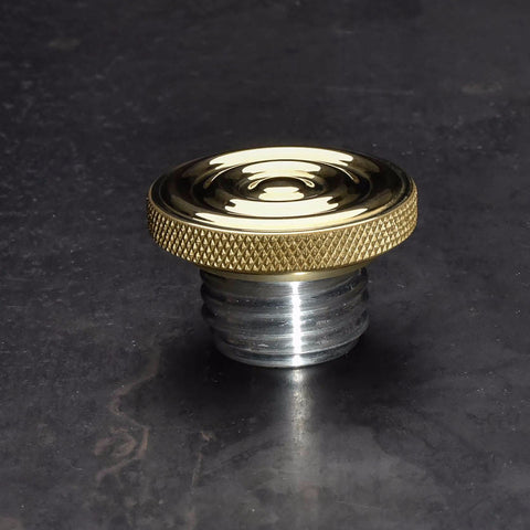 Custom Gas Cap - Brass Rippled Top