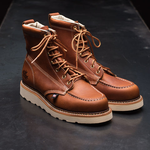"Thorogood American Heritage 6"" Moc Toe Boots - Tobacco"