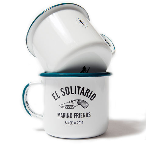 El Solitario Making Friends Enamel Mug - Set of 2