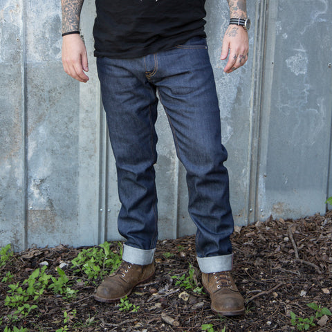 El Solitario ES-1 Tapered Raw Selvedge Denim - Indigo - Revival Cycles