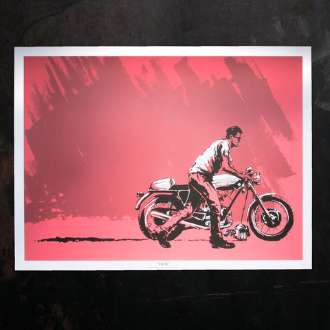 """fuck"" Screen-Print Poster - 18""h x 24""w - Revival Cycles"