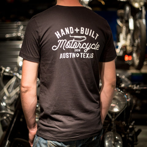 Handbuilt Show Anchor T-Shirt - Vintage Black - Revival Cycles