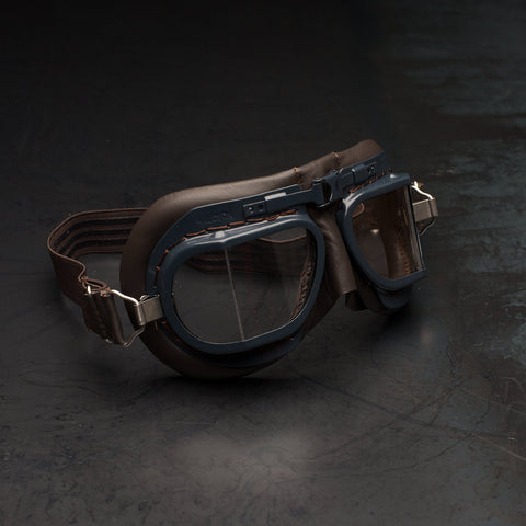 Halcyon Mark 8 RAF Goggles Brown Blue
