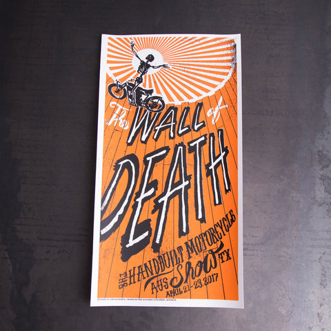 Handbuilt Show 2017 Wall of Death Poster