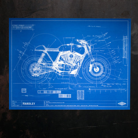 Hardley Blueprint Poster