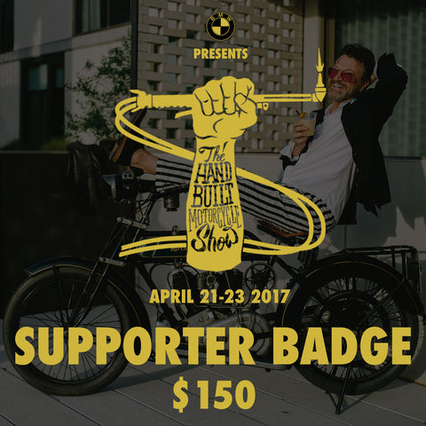 The Handbuilt Motorcycle Show - Supporter Badge