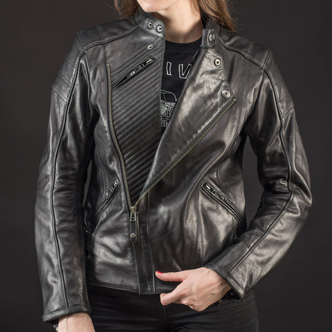 REV'IT! Bellecour Ladies Leather Jacket - Black open
