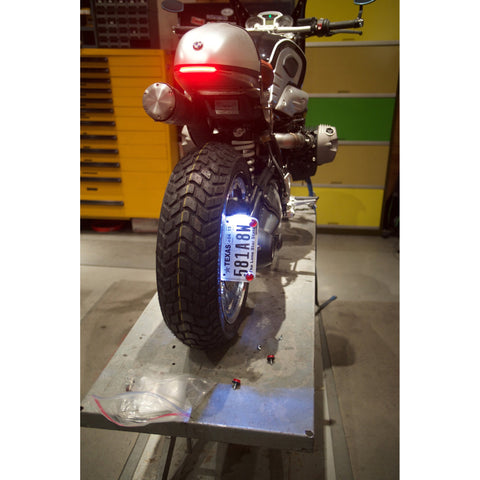... Revival Cycles Signature BMW License Plate Bracket Vertical Mounted with Plate & Revival Signature BMW License Plate Bracket R nineT