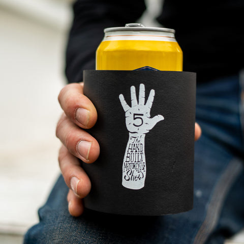 Handbuilt Show Hi-Five Foam Koozie - Black