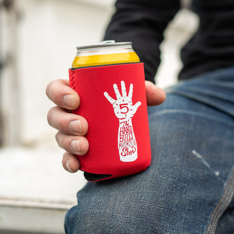 Handbuilt Show Hi-Five Neoprene Koozie - Red
