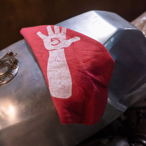 Handbuilt Show Hi-Five Shop Rag - Red
